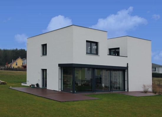 komplett schl sselfertiges bauen priesendorf bauhaus architektur. Black Bedroom Furniture Sets. Home Design Ideas